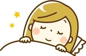 心地よく眠っている女性